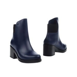 MELISSA DARK BLUE Rubber ANKLE BOOTS size 7